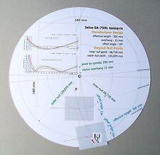 Jelco sa-750l personalizzato progettato PHONO CARTRIDGE Stylus Goniometro tracciato