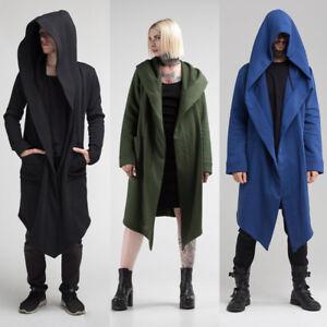 US STOCK Women Men Outwear Hooded Coat Long Trench Jacket Warm ... d2a6ea6bb