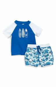 51a5be9b3f Tucker + Tate Island Print Baby Boy 2 Piece Rashguard Swimsuit Set ...