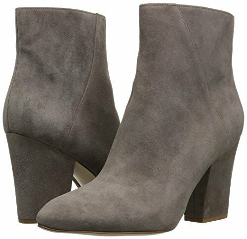 Nine West Savitra Grey 9.5 Suede Ankle Fashion Fashion Boots Booties Block heels