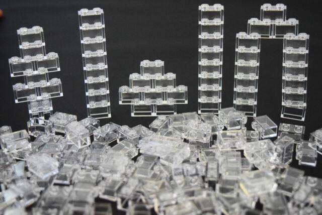 LEGO LOT OF 20 NEW 1 X 2 x 3 TRANS Transparent Clear Wall Element Panels 1x2x3
