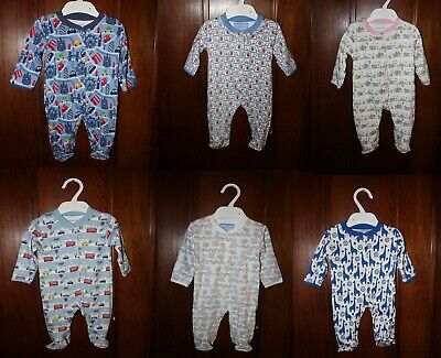 Jojo Maman Bebe BOYS GIRLS RED BLUE WHITE BABY GROW SLEEPSUIT Bodysuit 0-18m