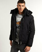 New Mens Superdry Sherpa Windcheater Black