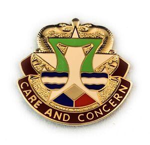 US-Army-Darnall-MEDDAC-Fort-Hood-Texas-Crest-DUI-Insignia-Lapel-Hat-Pin