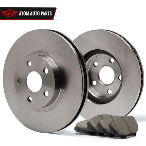 2010 Fit Dodge Caliber w//Rear Disc Brake Rotors Ceramic Pads F OE Replacement