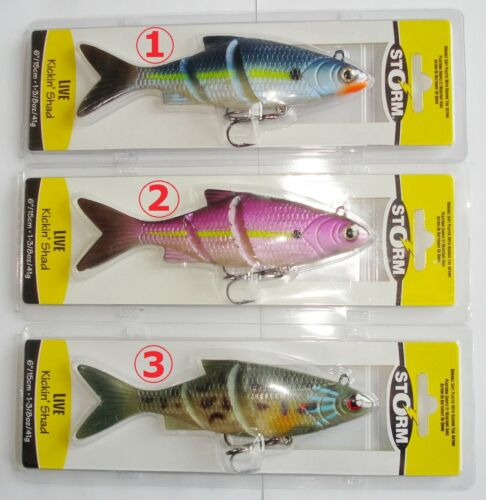 41gr Pike Bait Storm Live Kickkin Shad 15cm Lures Rubber Fish Top-Farbe