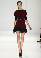Victoria Beckham Dress No300 Burgundy Black keyhole Dress UK 10
