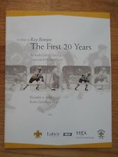 A Tribute to RAY BOURQUE The First 20 Years Nov 2, 1999 Program BOSTON BRUINS