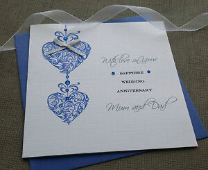 65th Wedding Anniversary Gift For Parents : ... -45th-65th-WEDDING-DAY-ANNIVERSARY-CARD-HANDMADE-PERSONALISED-Parents