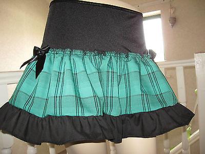 NEW  Black Green tartan check Mini skirt Goth Rock Punk Lolita Party All sizes