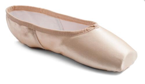 Katz Raso Rosa principianti pratica Scarpe da ballo demi pointe Soft Toe Shank in raso