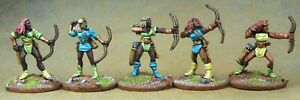 Amazons-Archers-x5-28mm-Unpainted-Metal-Wargames