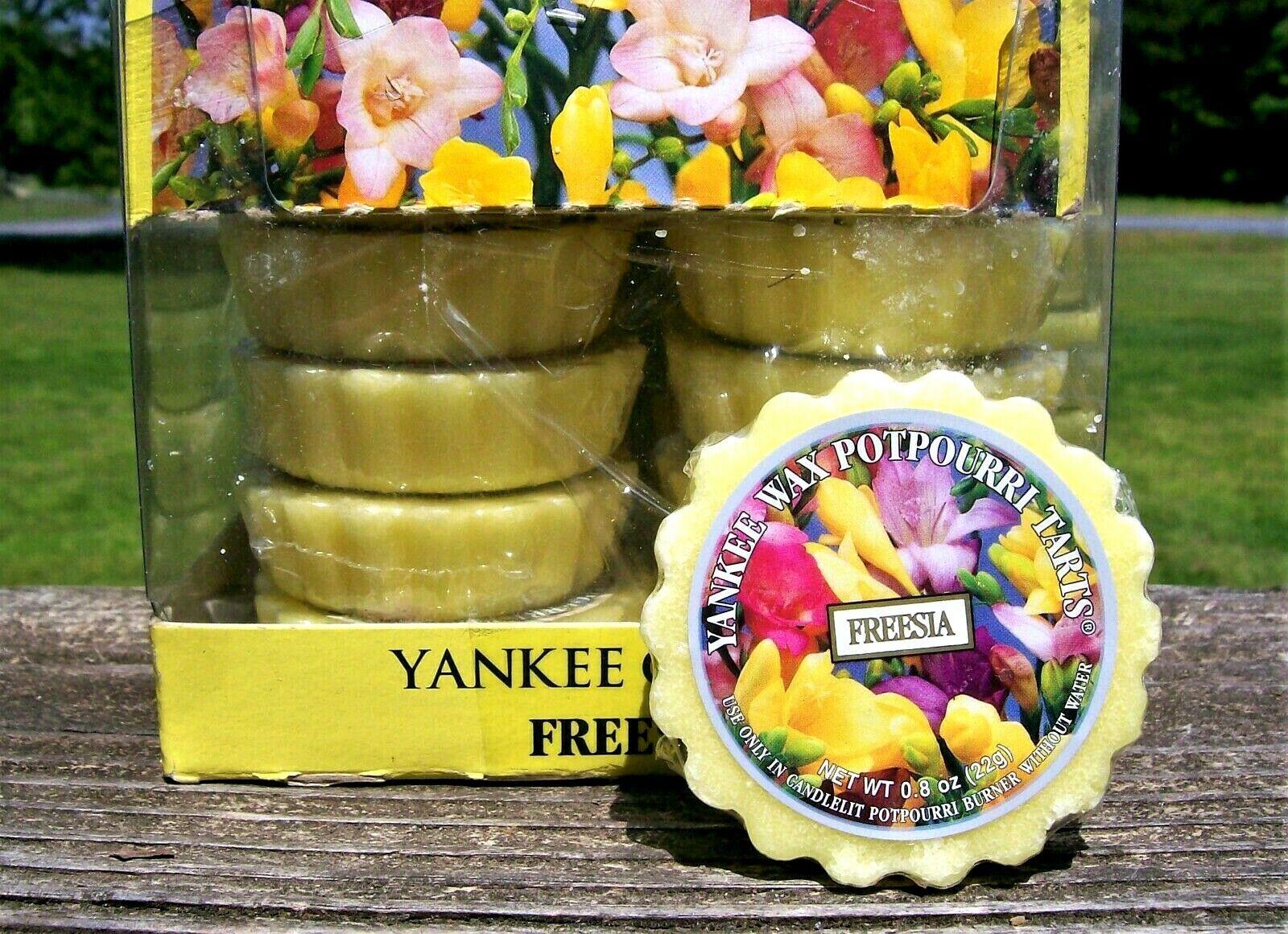 Box Lot of 24 Retirot Yankee Candle  FREESIA   Tarts Wax Melts  RARE NEW