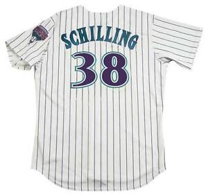 b3ee676fc Image is loading CURT-SCHILLING-Arizona-Diamondbacks-2001-Majestic-Throwback -Home-