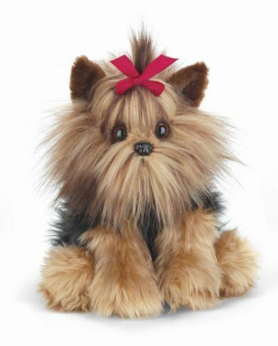 BEARINGTON Plush Toy YORKSHIRE TERRIER Stuffed Animal YORKIE PUPPY DOG Bow 13""