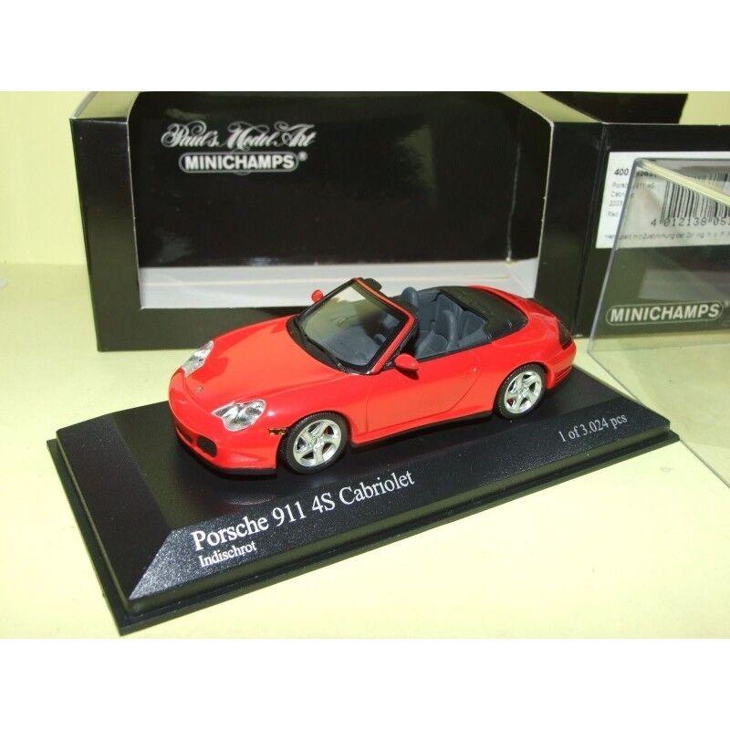 PORSCHE 911 CARRERA 4S CABRIOLET 996 2003 Rouge rouge MINICHAMPS 1 43