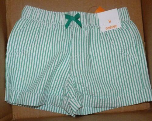 NEW GYMBOREE Big Girls Size Sz 8 Green Seersuck Shorts NEW NWT