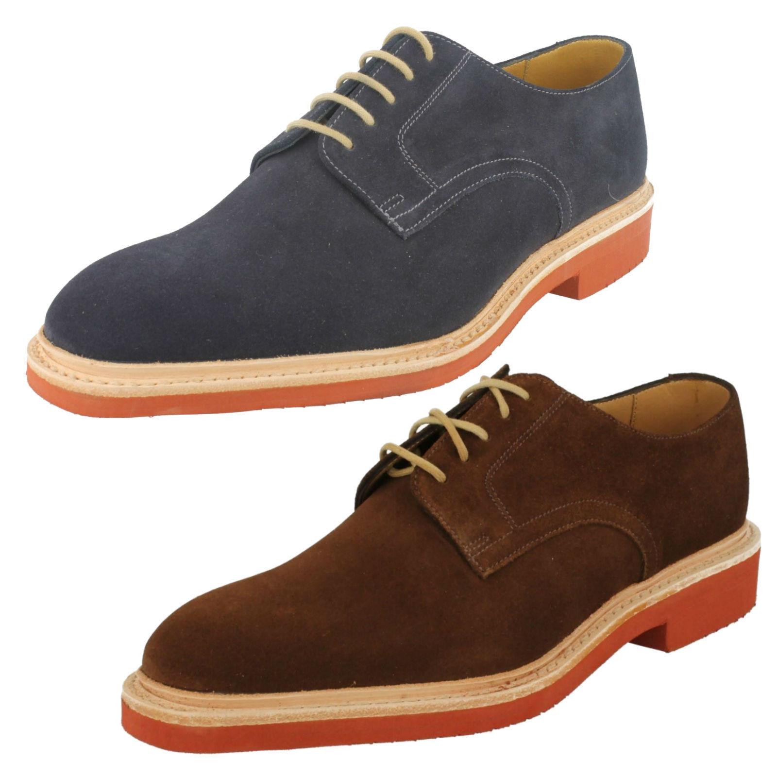 LOAKE Morrison Formal Informal Con Cordones Para Hombre De Cuero Zapatos De Gamuza