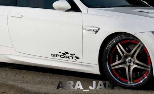 SPORT Vinyl Decal sport car door sticker logo fits BMW BLACK