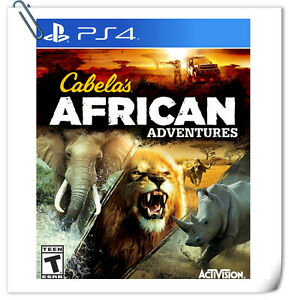 PS4-SONY-PLAYSTATION-Game-Cabela-039-s-African-Adventures-Sports-Activision