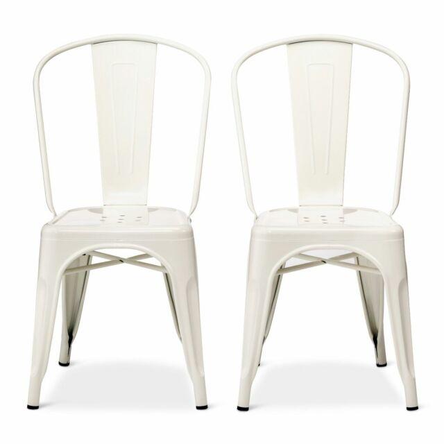 Set Of 2 Carlisle High Back Metal Dining Chair White Threshold For Sale Online Ebay