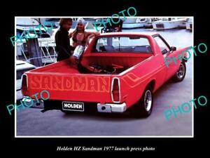 OLD-LARGE-HISTORIC-PHOTO-OF-GMH-1977-HZ-HOLDEN-SANDMAN-UTE-LAUNCH-PRESS-PHOTO