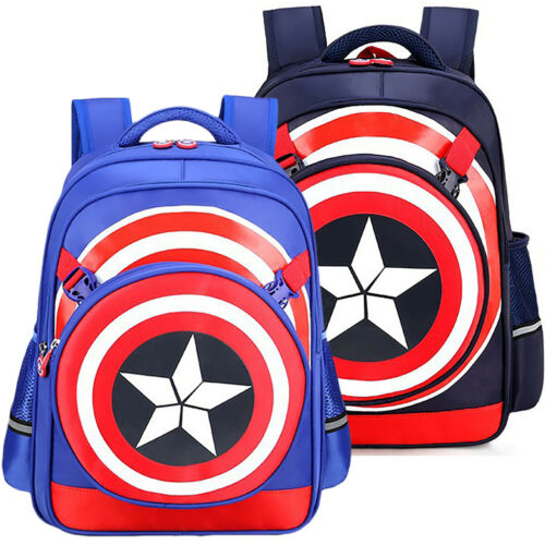 Kids Boys Superhero Cartoon School Bag Backpack Preschool Toddler Girls Rucksack