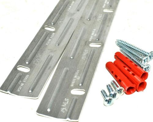 Enclenchement Cale Bandes 450 mm Z bar Cintres Photo Miroir Vis Wall Plugs