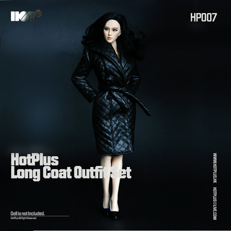 HotPlus 1/6 Long Coat Outfit Set 1/6 Scale Phicen, Hot Plus Female HP007