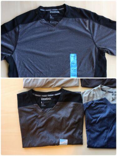 Reebok Mens PlayDRY Shirt Fitness Sport Short Sleeve