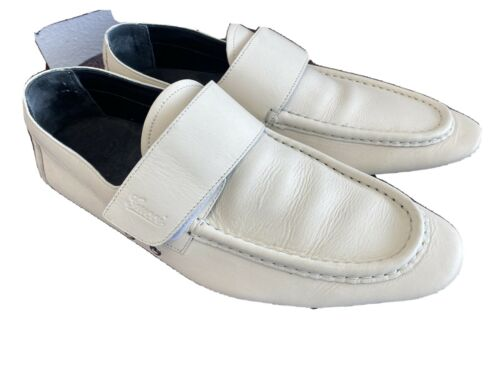 ❤️Gucci Vintage Loafers White Leather Men's Shoe 1