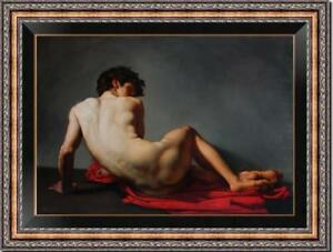 """Hand-painted Original Art Oil painting Portrait gay male nude on Canvas 24""""X36"""""""