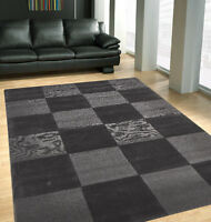 Nz-wool Timeless Charcoal Floor Rug Boxes Hand-made Modern Rug Carpet