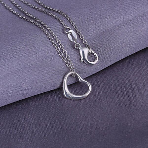 New-Wholesale-925-Sterling-Silver-Filled-Cute-Heart-Pendant-With-Necklace-18-039-039