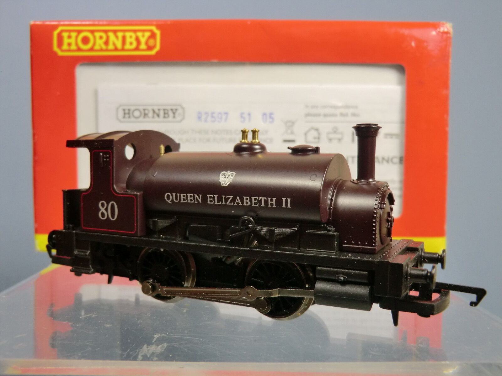 HORNBY  COLLECTOR CLUB  No.R2597  ex-CR  0-4-0ST No.80  QUEEN ELIZABETH II  MIB
