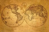 Old World Map Poster 24x36 Antique Geography Vintage 10500