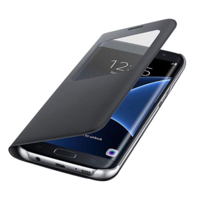 Custodia Cover flip WALLET Samsung Galaxy S7 bordo S Vista Premium black