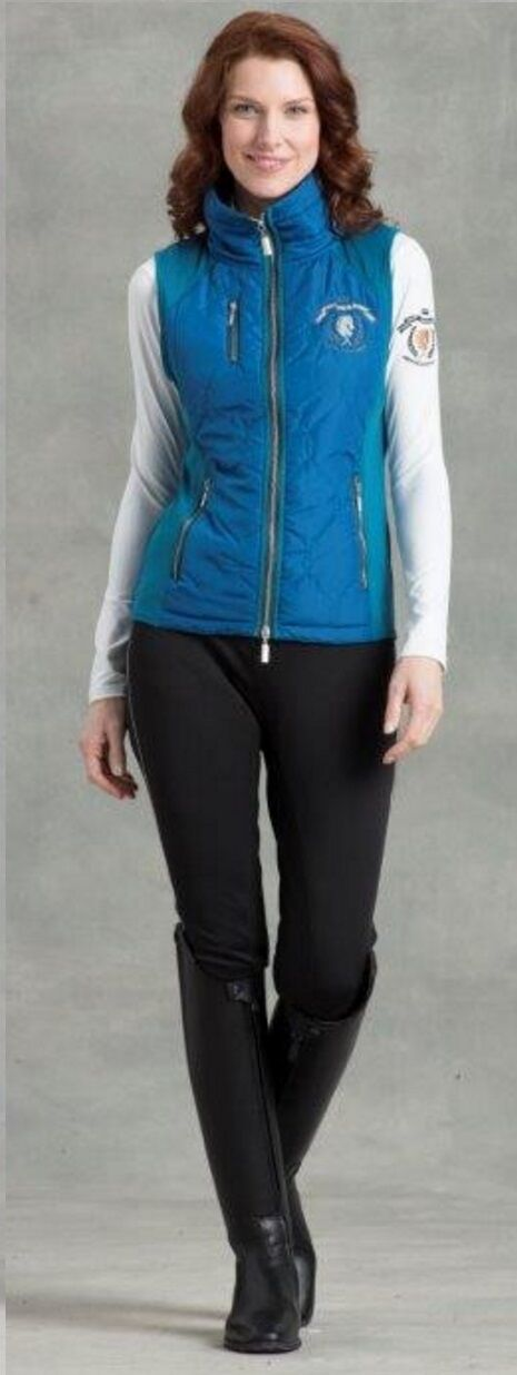 Arista Quilted Combi Flex Vest in Jewel blu