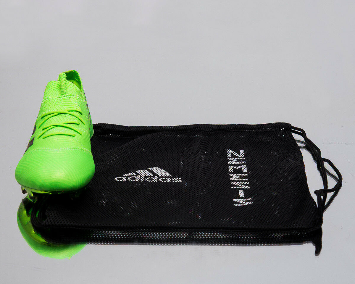 Adidas Nemeziz Messi 18.1 FG Men New Soccer Football Solar Solar Solar Grün Cleats DA9586 cf7fcc