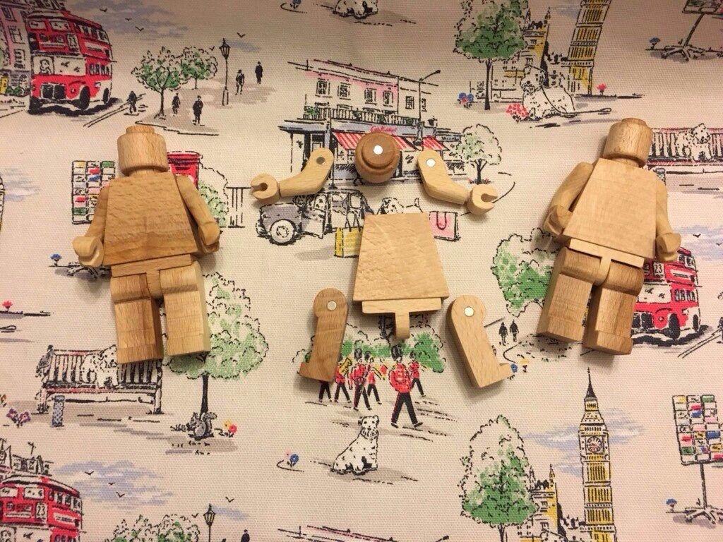 Wooden Lego Mini Figure Collectible
