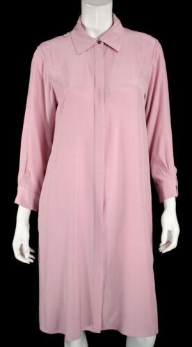 VALENTINA KOVA Rose Pink Silk Crepe Oversized Shir