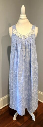Eileen West Sleeveless Nightgown In Periwinkle