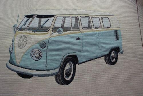 gobellinstoff bus Dekostoff bleu 48 x 48 cm I camionnette