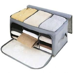 Bamboo-Charcoal-Storage-Box-Folding-Clothes-Blanket-Closet-Organizer-Bag-Home