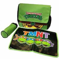 Tmnt Ninja Turtles Superhero Messenger Diaper Bag Set -