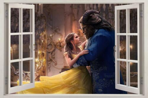 Beauty And The Beast Disney Movie 3D Window Decal Wall Sticker Art Mural H992