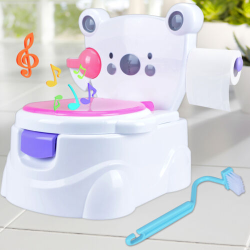 Kindertoilette Toilettentrainer Lerntöpfchen Toilettensitz Potty Sound Töpfchen