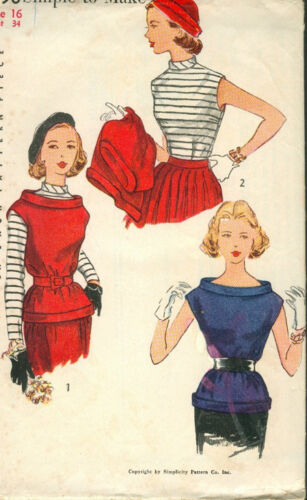 1952 Vintage Sewing Pattern B31 BLOUSE R805