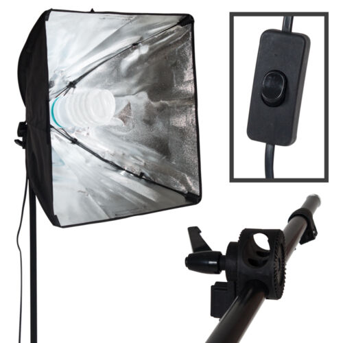 Kit de Iluminación continua de vídeo Fotografía De Estudio Softbox soporte con Bombilla Modelo 2