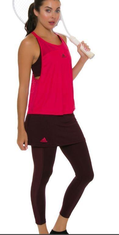 ADIDAS - Women`s US-Open Series Tennis Leggings Bordeaux Pink - BR5063